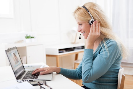 video chats with executive coaching clients