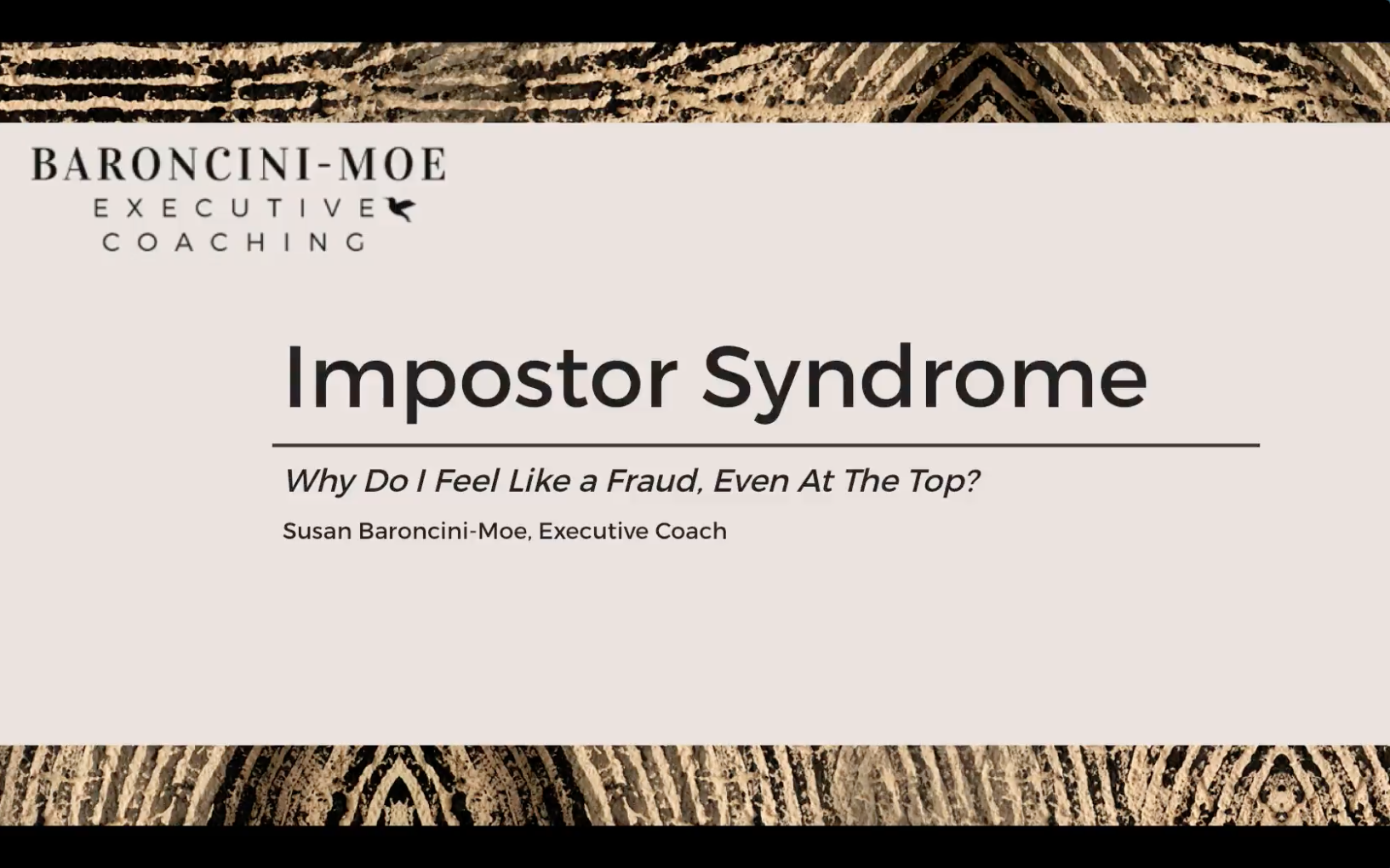Impostor Syndrome: Why Do I Feel Like A Fraud, Even At The Top?