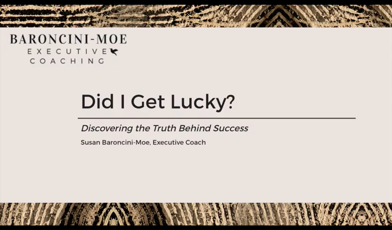 "Did I Get Lucky?"" Discovering the Truth Behind Self-Worth and Your Success"
