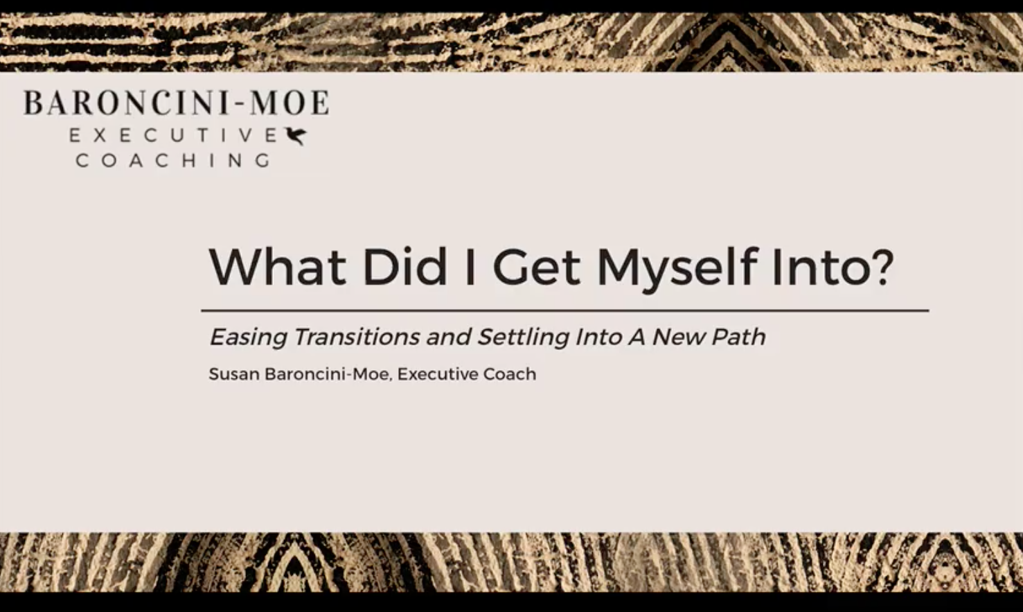 """What Did I Get Myself Into?"" Easing Transitions and Settling into A New Path"